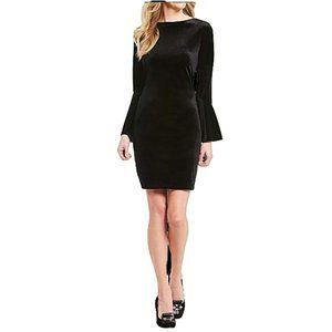 IMNYC Isaac Mizrahi Velvet Dress Black